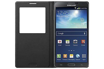 Genuine Samsung S-View Flip Case Black for Samsung Galaxy Note 3 (Samsung Galaxy Note 3 S View Case)