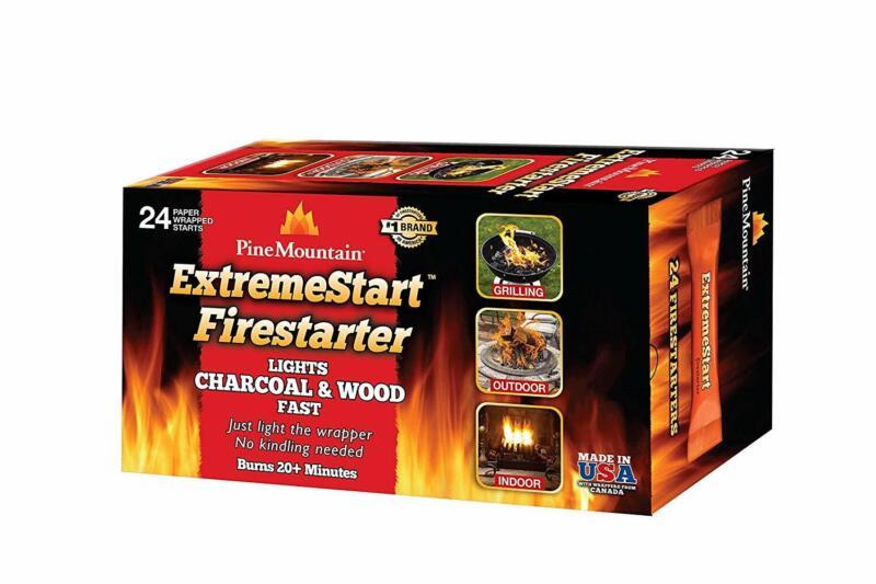 ExtremeStart Wrapped Fire Starters 24 Starts Firestarter Woo