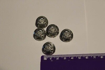 Pewter Skull Pirate Buttons Medieval Historical Reenactment UK Made stocked LGE