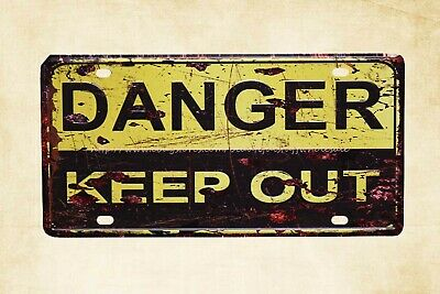 US SELLER- danger keep out metal tin sign discount decoration plaque