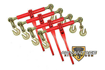 "4 Ratchet Binders 5/16"" - 3/8"" Boomer Chain Equipment Tiedown Hauling"