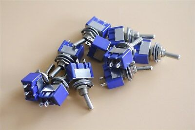 10pcs 2 Terminal Spst On-off 2 Position 250vac Mini Toggle Switches Mts-101 Us