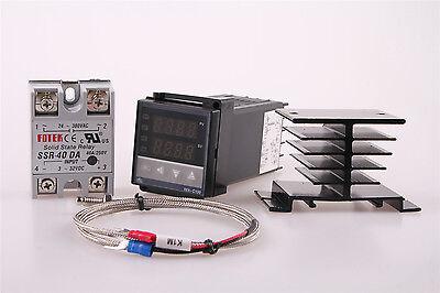 Rex-c100 Rkc Pid Temperature Controller 220v 40a Ssr K Thermocouple Wj