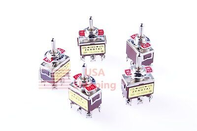 5 Pcs Ac 250v 15 Amp Dpdt 3 Position Momentary On-off-momentary On Toggle Switch