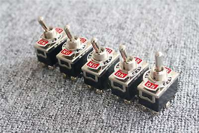 Us 5pcs Heavy Duty 15a 250v Ac Dpdt 6-pin On-off-on 3 Position Toggle Switch