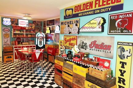 Retro Man Cave Collection, Lights Signs and More