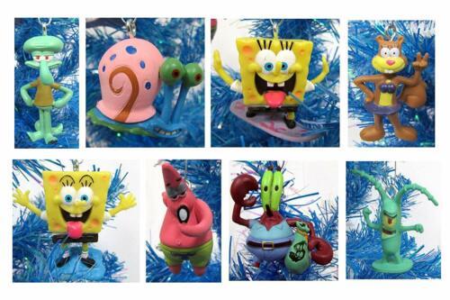 SpongeBob SquarePants 8 Piece Holiday Christmas Tree Ornament Set  Squidward and