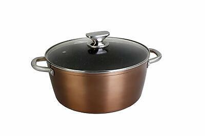 WECOOK 10924 Cazuela de Cocina Inducción Profesional, Tapa de Cristal, Cacerola
