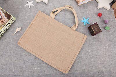 NEW Eco-Friendly Handmade Natural Burlap Jute Tote Bag 12