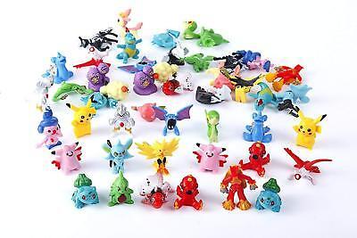24Pcs Lots Pokemon Mini Random Pearl Action Figures Kids Toys XMAS Gifts
