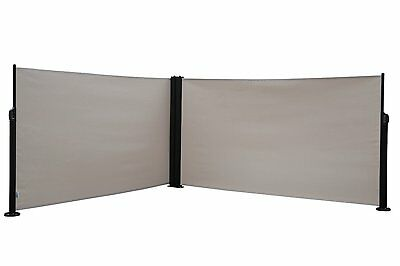 Abba Patio Retractable Double Folding Screen Fence Privacy Divider, 5.2 ft High