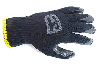 240 Pairs Better Grip Black Double Dipped Rubber Coated Palm Work Gloves-BGEBBLK
