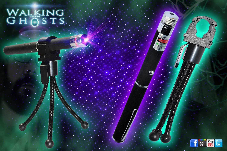 Ultraviolet UV Laser Grid Pen and Tripod Holder Ghost Paranormal Investigation UK