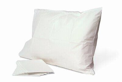 5 PIECES WHITE DISPOSABLE STANDARD 20''X29'' SIZE HOTEL PILLOW CASES COVERS