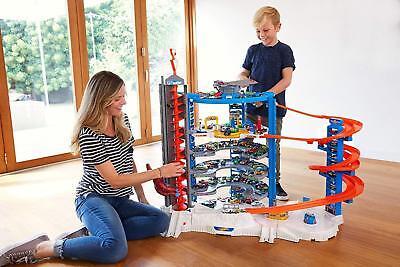 Huge Hot Wheels Set Matchbox Car Kids Toy Garage Die Cast Model Car Storage Big