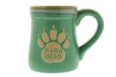 Mama Bear Ceramic Funny Coffee Mug, Nobody Messes with My Cubs, Large 18 oz Bear Ceramic Coffee Mug