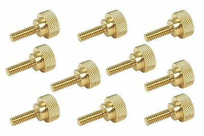 10 Pack 14-20 X 34 Threads Solid Brass Diamond Knurled Thumb Screws Sae