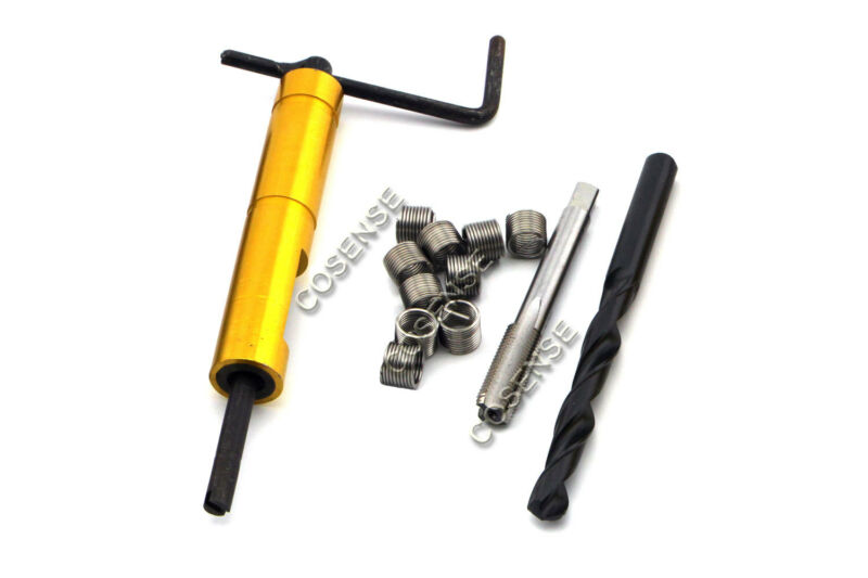 Thread Repair Kit M14 x 1.5 x 1.5D Stainless Steel Insert & Tap & Drill Bit