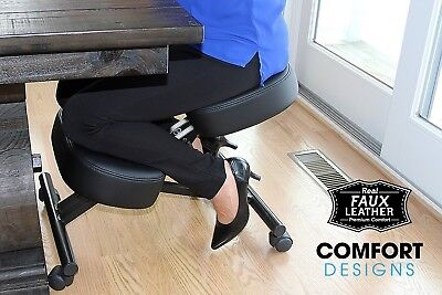 Comfort Design - Ergonomic Soft Leather Kneeling Chair Adjustable