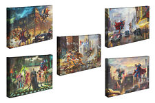 Thomas Kinkade DC Comics Set of 2 or Set of 5 - 10x14 Gallery Wrapped Canvases
