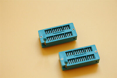 2pcs 28-pin 2.54mm Zif Zip Ic Test Dip Board Socket 228-3345 Universal 3m