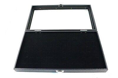 New 36 Pair Cufflink Black Glass Top Display Case
