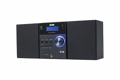 Stereoanlage mit CD, DAB+, UKW Radio, Bluetooth, AUX In und USB ROXX MC401 black