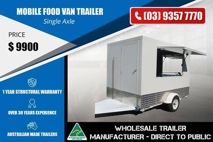 White Colour Mobile Food Van Trailer - GVM 1400kg Epping Whittlesea Area Preview