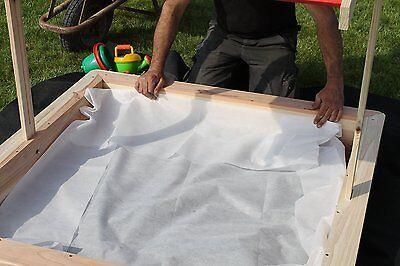 3,2 x 3,2m XXL Sandkastenvlies weiß + 4 Erdanker Vlies für Sandkasten Unkraut