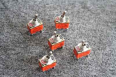 5pcs Ac 250v15a 4 Screw Terminals Onoff 2 Position Dpst Rocker Toggle Switch