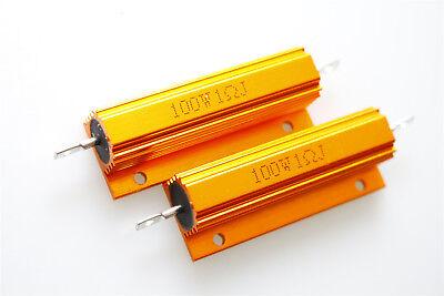 2pcs 1-100k Ohm 100w Watt Aluminum Housed Case Wirewound Resistors