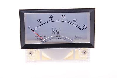 One Pcs 69c17 Class 2.5 Dc 0-100kv Range Analog Voltage Voltmeter Panel Meter