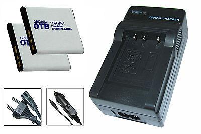 2 x Akku + Ladegerät für Sony Cyber-shot DSC-W390, DSC-W510, DSC-W520 - NP-BN1 online kaufen