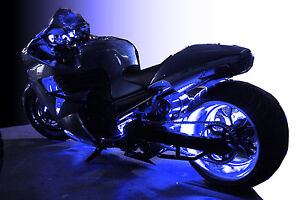 details about led motorcycle accent engine ground wheel light kit for. Black Bedroom Furniture Sets. Home Design Ideas