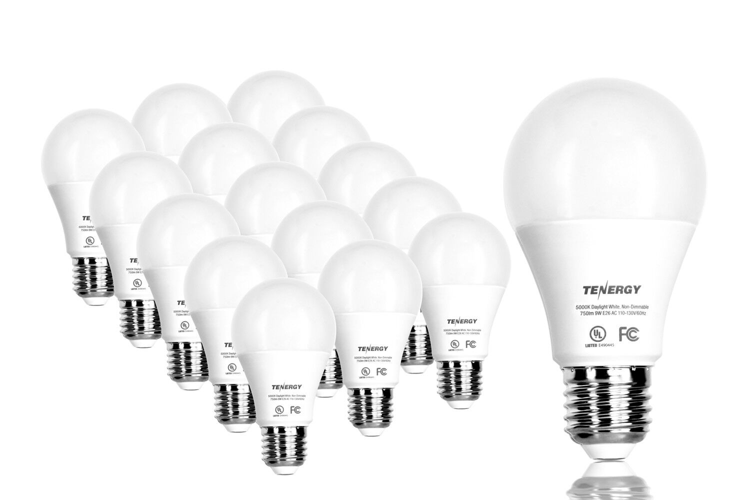 Details About Tenergy Led Light Bulbs 9w 60 Watt Daylight White Soft White 5000k 2700k