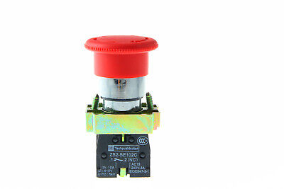 Emergency Stop Button Switch 1 Nc 1 No Bs545 Contact Twist Reset 22mm Xb2-bs545