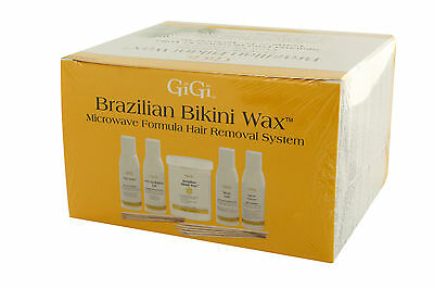 Gigi Brazilian Microwave Home Waxing Kit Hair Removal Remover Hard Wax ()
