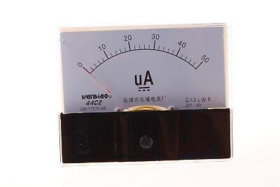 1xdc 50ua Accuracy Analog Amperemeter Panel Meter Gauge Class 1.5 44c2 Dc 0-50ua