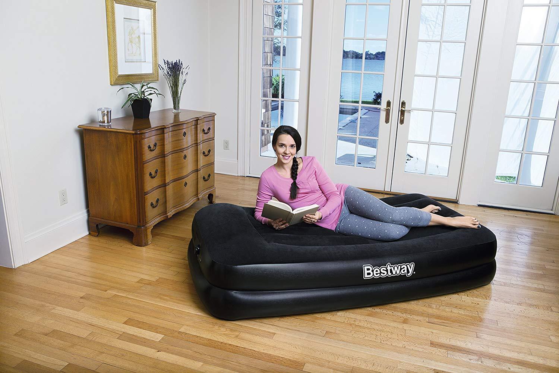 Bestway Premium Single Inflatable Air Bed Mattress Built in