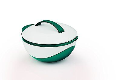TV Unser Original Gourmetmaxx Thermoschüssel 400 ml metallic smaragdgrün / weiß