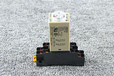 1x Delay Timer Time Relay With Base 10s Ac 110v H3y-2 0-10 Second 110vac