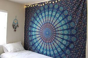 Large Indian Tapestry Bedspread Wall hanging Mandala Bohemian Beach Cover Towel