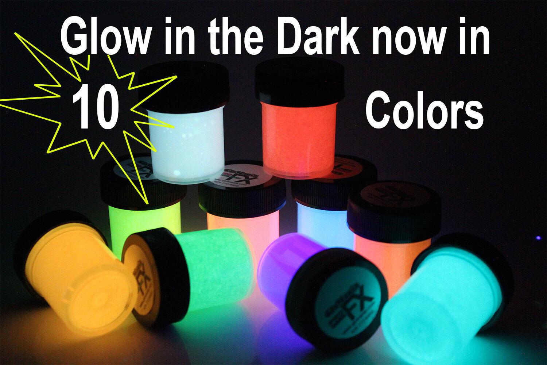 Glow in the Dark Paint Black Light UV Paint 10 x 1/2oz Lumin