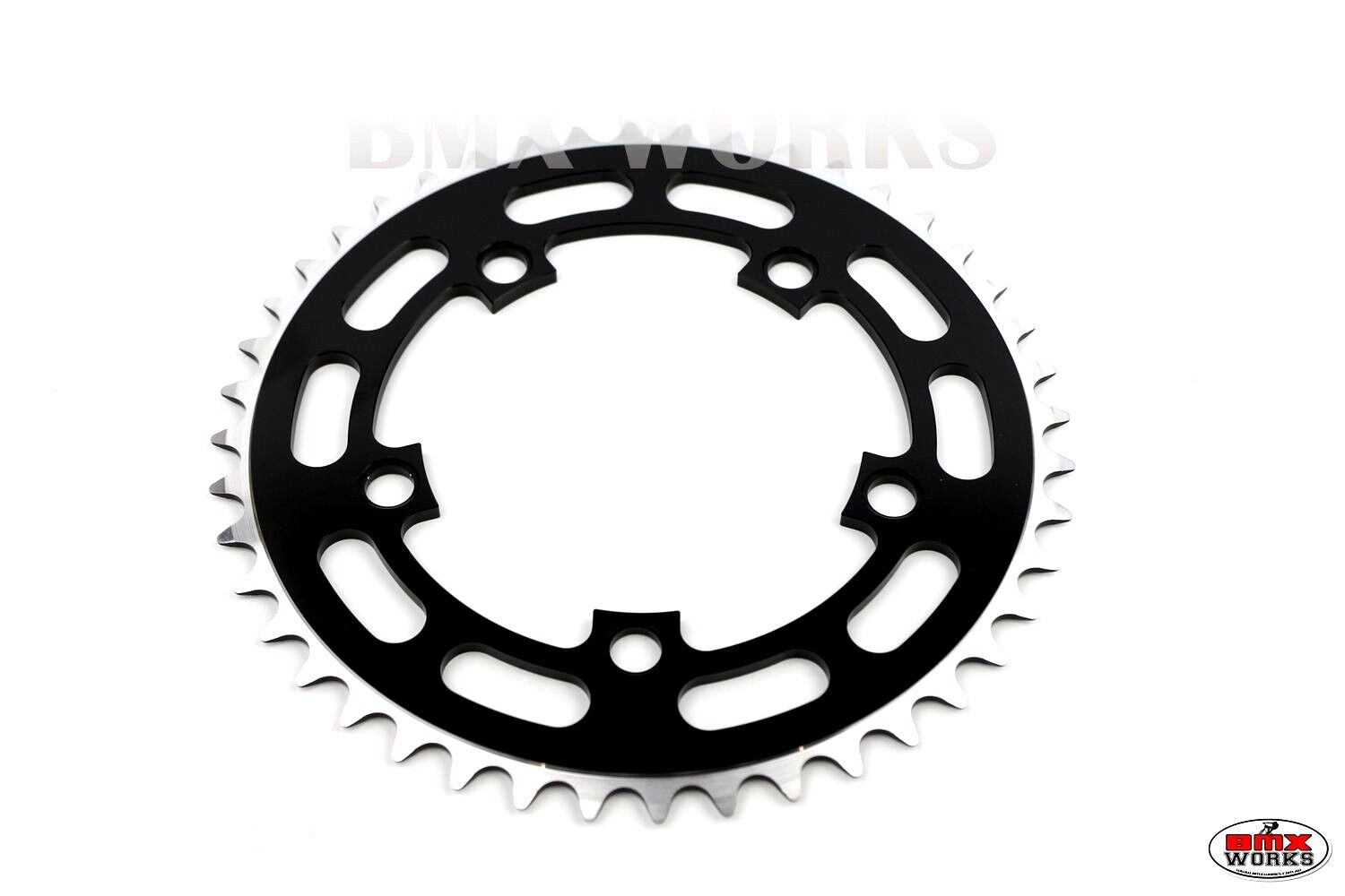 """3//32/"""" Old School BMX Style 44 Teeth ProBMX BMX Red Chainring 130BCD"""