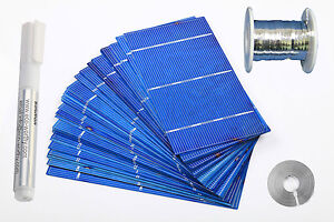 70W 40PCS 3x6 solar cells with kit for DIY solar panel,tabbing wire  ,flux pen