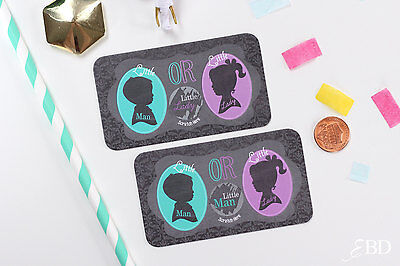 Guess the gender baby shower gender reveal scratch off game card (Baby Guess)