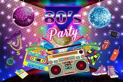 80's Party Disco Ball Colorful Photography Backdrop Photo Background Studio Prop - 80s Photo Backdrop