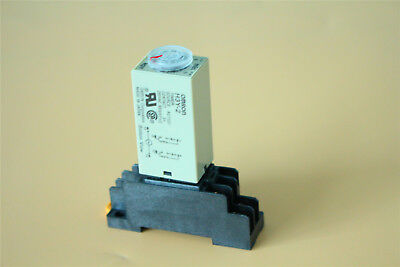 Ac 110v H3y-2 Relay Timer Time Relay 0-3m Minute W Base Socket