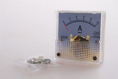 One Piece 91c4 Analog Amp Panel Meter Gauge Dc 010a