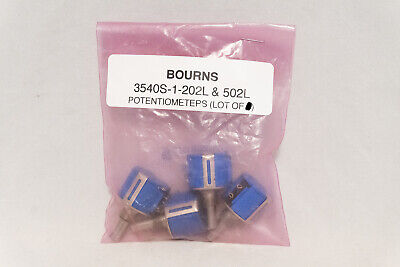 Bourns Precision Potentiometer- Lot Of 4- 2x 3540s-1-102 2x 3540s-1-202l